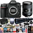 Nikon D850 DSLR Camera Body + 2 Lens Tamron 28-300mm + Deco Photo 500mm Pro Kit