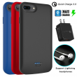 For iPhone SE 2020/7/8 Plus/6/6s Battery Charging Case Power Bank/QC 3.0 Charger