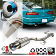 """Stainless Steel Catback Exhaust System 4.5"""" Burnt Tip for 90-93 Acura Integra"""