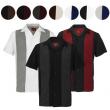 Maximos Men's Retro Classic Two Tone Bowling Shirt Charlie Sheen