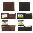 DBFL Men's Genuine Leather Solid Flip ID Bifold Wallet