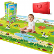 Hape E8372 5' x 5' Large 2 Sided Reversible Baby Activity Foam Foldable Play Mat