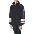 Bebe Sport Womens Black Sherpa Striped Cozy 1/4 Zip Pullover L BHFO 2561