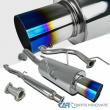 For Acura 94-01 Integra GS-R Titanium Burnt Tip S/S Catback Exhaust Muffler