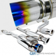 For 94-97 Honda Accord 4Cyl Polished S/S Catback Exhaust Muffler System Burn Tip