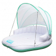 COMFY FLOATS Cabana Pool Float with Retractable Cover and Cool Misting, White