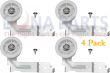 4 Pack DC93-00634A Samsung Dryer Idler Pulley Wheel & Bracket Upgraded Design
