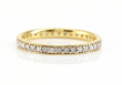 0.55 CT Natural Diamond Full Eternity Ring Band 10K Yellow Gold Stackable D2