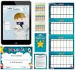 Potty Training Reward Chart with 4 Weekly Charts, 1 Diploma, 210 Colorful Stars