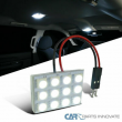 For 1x 12-SMD High Power White T10 LED Panel Car Interior Dome Light Lamp