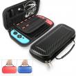 Nintendo Switch / Lite Carrying Case Carbon Fiber Hard Portable Pouch Travel Bag