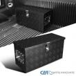 "24""x10"" Truck Pick-up Black Aluminum Tool Box Trailer Storage w/ Handles & Lock"