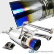 """For 98-02 Honda Accord 4"""" Polished SS Catback Burnt Tip Muffler Exhaust System"""