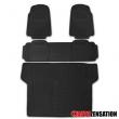 4X PVC Heavy Duty 3D Print Truck SUV Car Floor Mat Trunk Cargo Liner Black