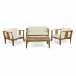 Saman Outdoor 4 Seater Acacia Wood Chat Set