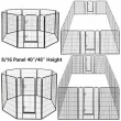 """Folding Pet Playpen Dog Outdoor Exercise Barrier Fence Metal Crate 40"""" 48"""" Tall"""