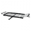 Tow Tuff 62 Inch Steel Cargo Carrier Trailer Car or Truck Rear Bike Rack, Black