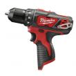 Milwaukee 2407-80 M12 Li-Ion 3/8 in. Drill/Driver (BT) Certified Refurbished
