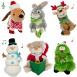 Plush Animated Stuffed Animal Toy Singing Dancing Light Up Christmas Collectible