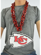 New NFL Kansas City Chiefs RED Burgundy Fan Chain Necklace Foam Magnet - 2 in 1