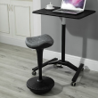 HOMCOM Lift Wobble Chair Rocking Stand Barstool Active Sitting, Cobweb Pattern