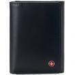 Alpine Swiss Mens Trifold Wallet RFID Blocking Genuine Leather Bifold ID Window