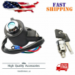 Ignition Key Switch Tail Box Lock Set Fit for 91-11 Sportster XL 883 XR XL 1200