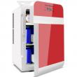 YITAMOTOR Mini Fridge Car Double Door Portable Small Refrigerator 20L/AC/DC Red