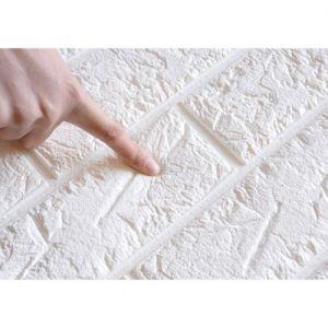 ملصقات الحائط ثلاثية الأبعاد مقاومة للماء والصدمات - 70*77 سم - أبيض