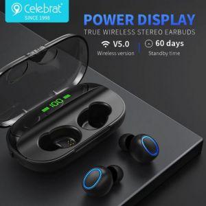 Celebrat W8 TWS Wireless Stereo Earphones - Black
